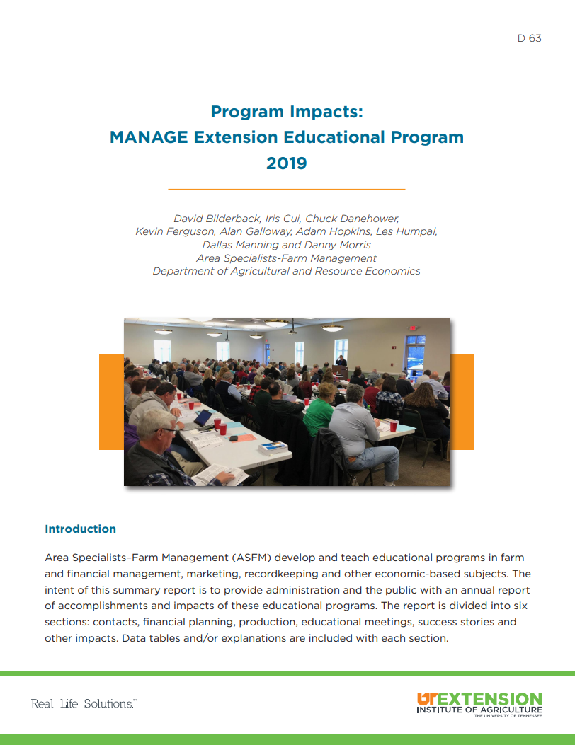 Cover of 2019 Program Impacts report